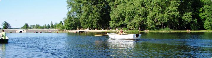 Boating on Räpina reservoir / Signe Zupsmann